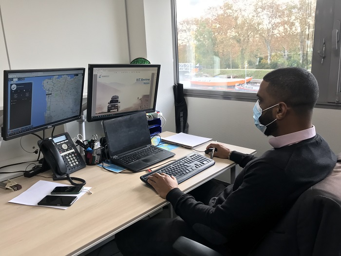 Arnaud working on humanitarian tools
