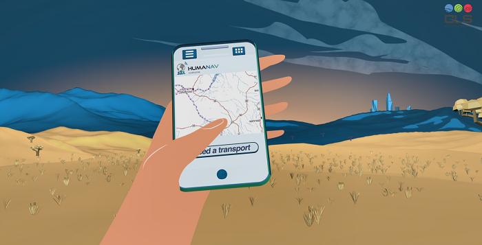 HumaNav fleet sharing phone interface